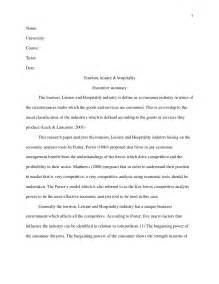 Travels With Essay by Harvard Style Essay Tourism Leisure And Hospitality Revised