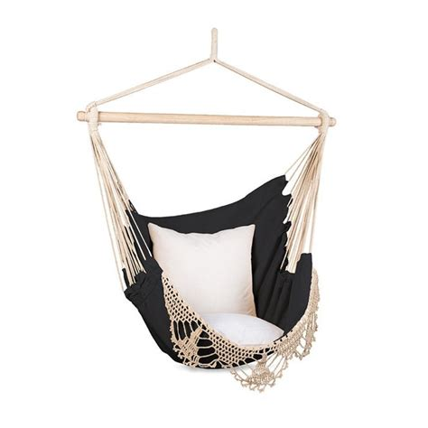 Black Hanging Chair by Macrame Black And Hammock Hanging Chair By Citta