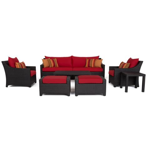 Shop Rst Brands Deco 8 Rst Brands Deco 8 All Weather Wicker Patio Sofa And