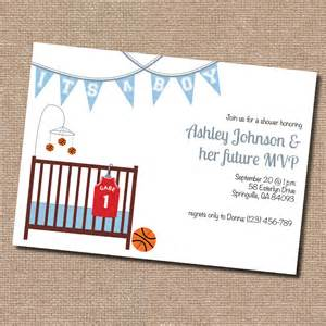 basketball baby shower invitation digital file by