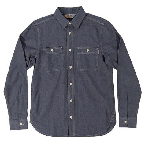 carhartt clink shirt navy mens shirts from attic clothing uk
