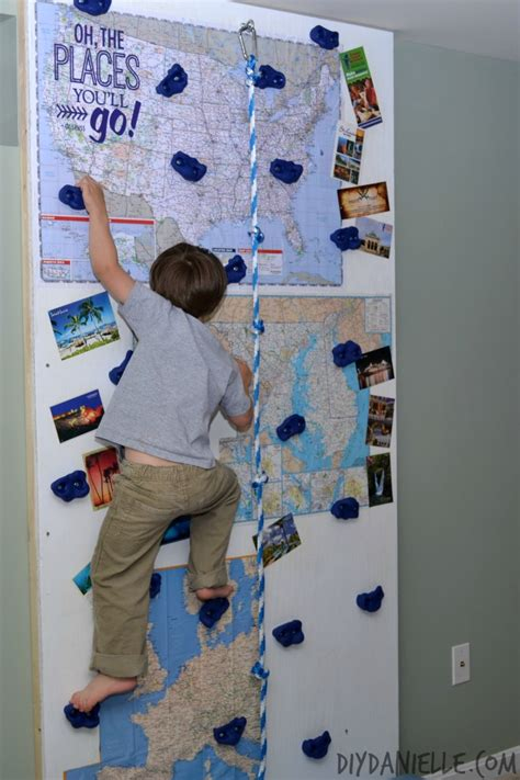 how to build an indoor rock climbing wall diy danielle