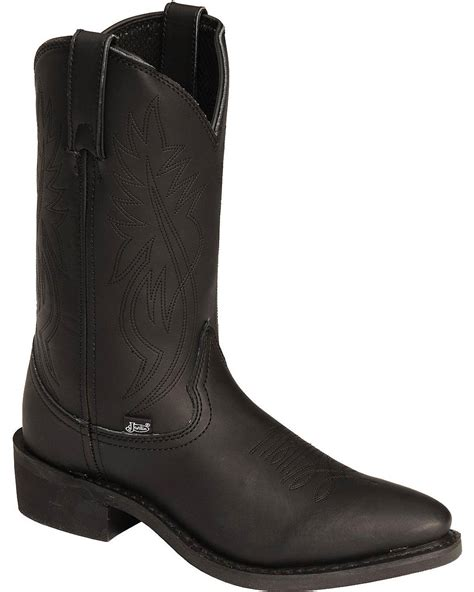 road boots justin s ranch and road cowboy work boot medium toe