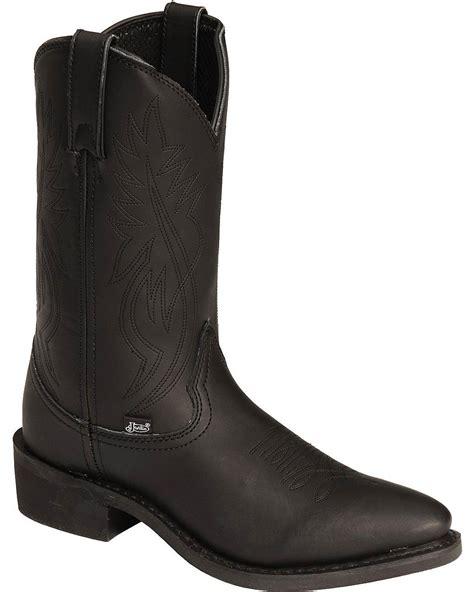 mens ranch boots justin s ranch and road cowboy work boot medium toe