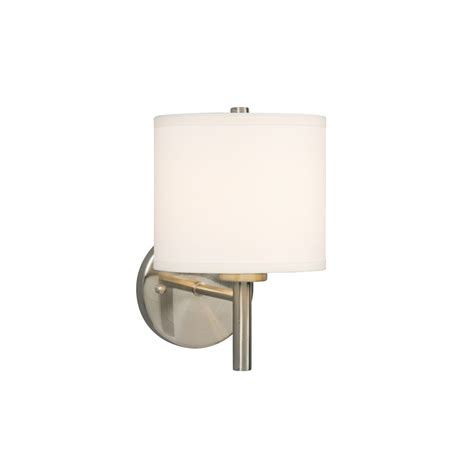 Brushed Nickel Wall Sconce Modern Sconce Wall Light With White Shade In Brushed Nickel Finish 213040bn Destination Lighting