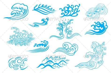 cartoon wave tattoo waves tattoo designs real photo pictures images and