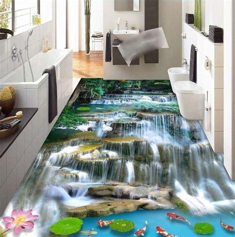Bathroom Painting Color Ideas by 3 D Suelo De Pvc Custom Etiqueta De La Pared 3d Monta 241 A