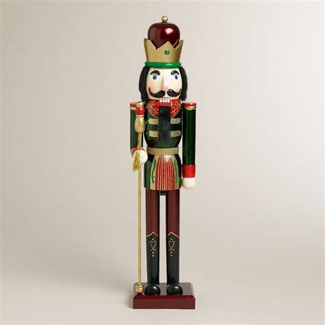 green extra large traditional nutcracker world market