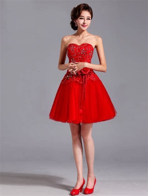 Awesome Short Red Bridesmaid Dresses   Dresscab