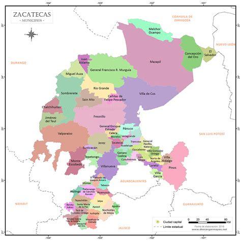 Imágenes Satelitales De Zacatecas | mapa de zacatecas por municipios tama 241 o mayor