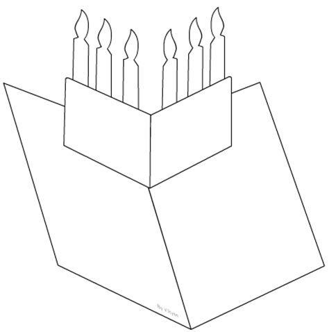 happy birthday pop up card template pdf candles pop up greetings card