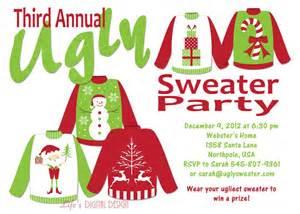 sweater invitation by lifesdigitaldesigns