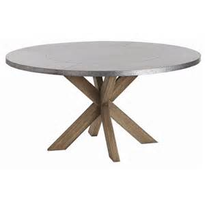 Dining Table With Metal Top Dining Table Galvanized Metal Top Dining Table