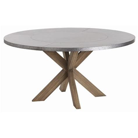 Dining Table: Galvanized Metal Top Dining Table