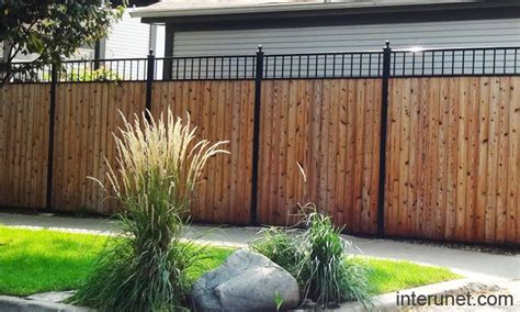 steel wood fence design picture interunet