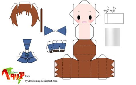 Hetalia Papercrafts - hetalia world italy papercraft