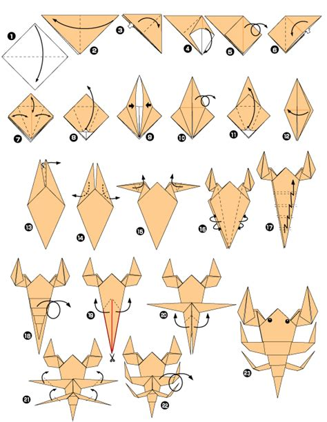 How To Make A Origami Scorpion - scorpion origami easy origami