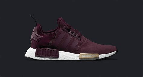 Adidas Nmd R1 Maroon Bergundy adidas nmd suede pack burgundy the sole supplier