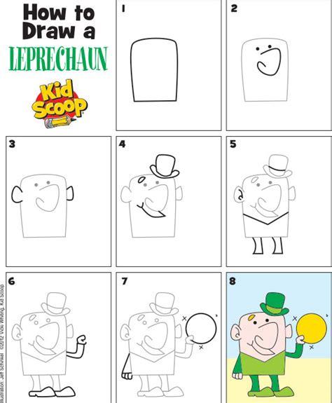 how to draw pdf how to draw a leprechaun kid scoop