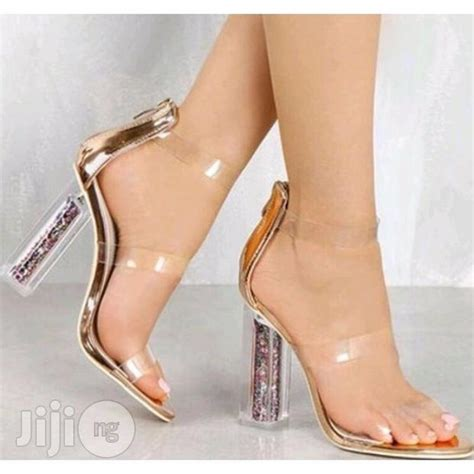 Glass Heel transparent glass heel shoes for sale in lagos mainland