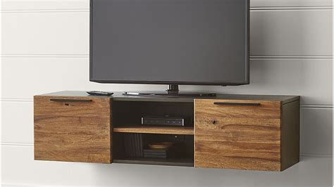 Crate And Barrel Dining Room by Rigby 55 Quot Small Floating Media Console Crate And Barrel