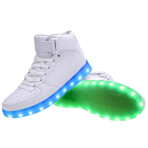 womens led light up shoes high top usb charging led light up shoes