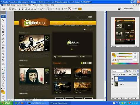 layout in photoshop cs3 how to make web layout in photoshop cs3 part 1 youtube