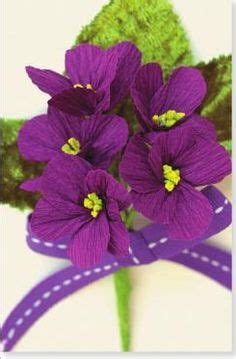 How To Make Paper Violets - paper flower tutorial paper flowers and flower tutorial