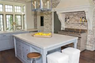 How To Paint Over Faux Wood - brick kitchen transitional kitchen har