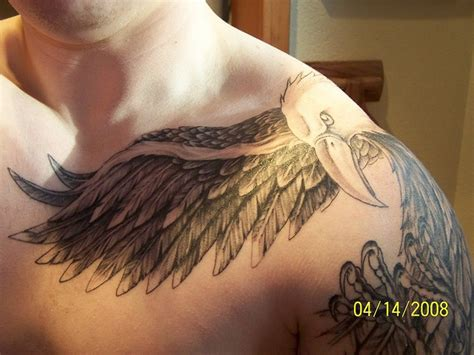 eagle shoulder tattoo american eagle shoulder chest by chrisjack34 via