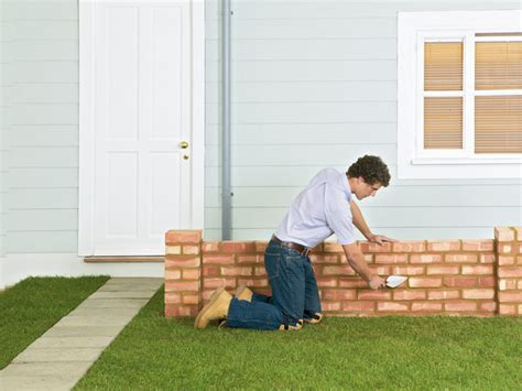 how to build a brick garden wall how tos diy