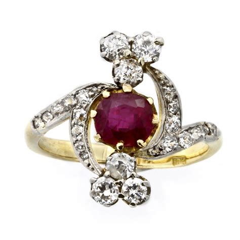 ruby engagement rings antique ruby engagement rings