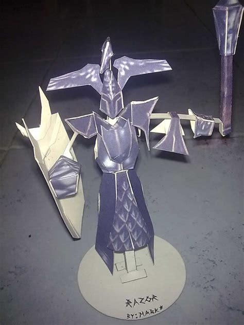 Dota Papercraft - dota razor papercraft finished by blackrockmark on deviantart