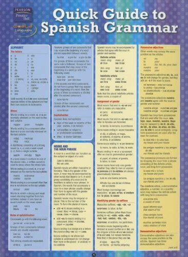 spanish grammar quick study 1423219635 quick guide to spanish grammar import it all