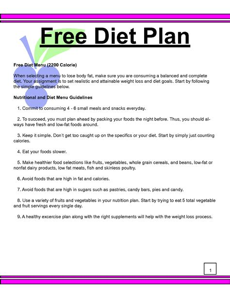 Free Weight Loss Tip Leave The by Diet Plan Calculator Diet Plan