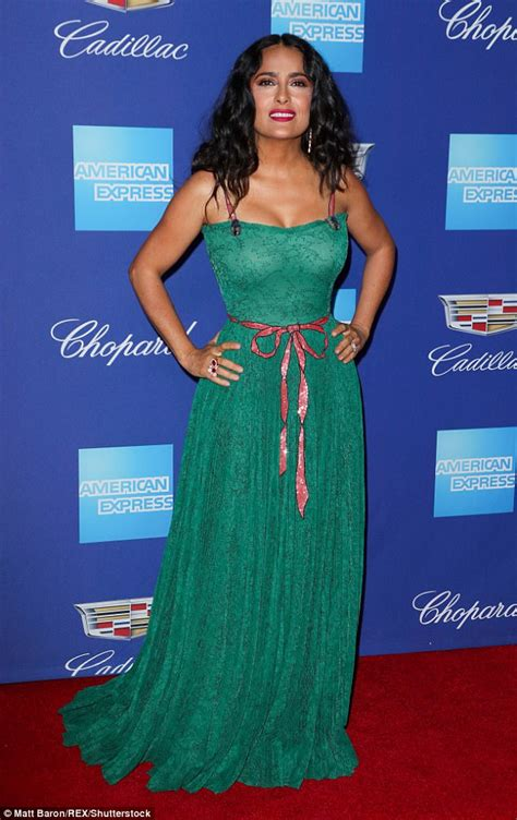 Salmah Dress salma hayek is gorgeous at the palm springs festival