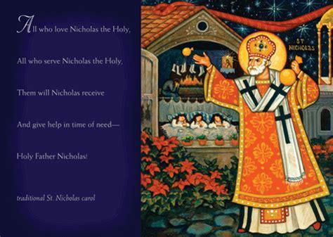saint nicholas gift christmas cards featuring a detail