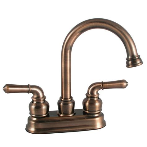brushed bronze kitchen faucet ldr 44024br high arc brushed bronze 4 quot centerset bathroom
