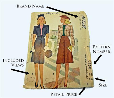 sewing pattern envelope lesson plan basics reading a pattern envelope yesterday s thimble