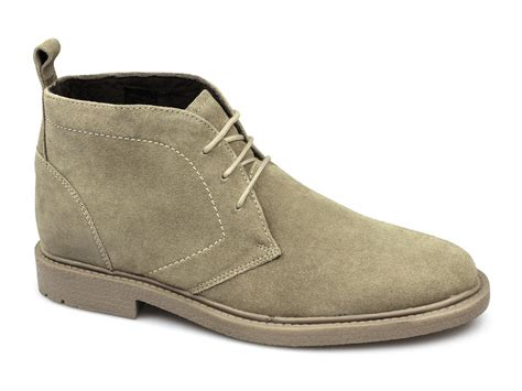 harrykson mens suede leather comfy desert boots sand buy