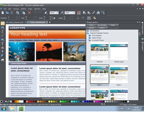 webpage layout design software xara web designer mx review expert reviews