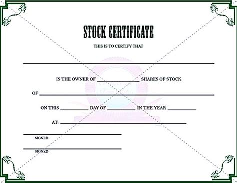 stock certificate template pdf stock certificate template free in word and pdf