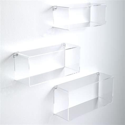 mensole da parete set 3 mensole rettangolari da parete in plexiglass klever