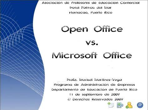 Microsoft Open Office Open Office Vs Microsoft Office Apec