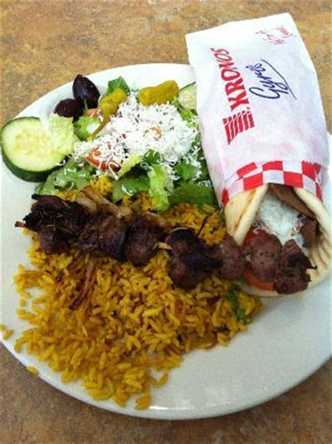 gyro house renton combination plate 8 gyros souvlaki chicken salad rice picture of gyros