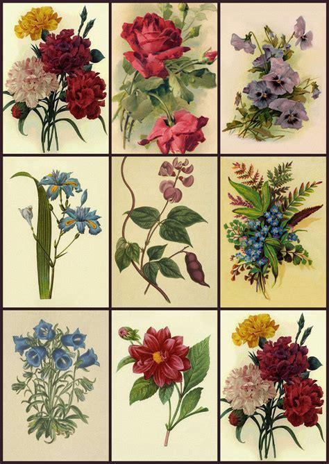 Decoupage Prints - artbyjean vintage clip digital collage sheet