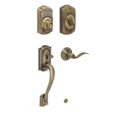 Schlage Door Locks by Schlage Keyless Camelot Entrance Handleset
