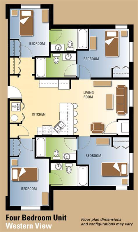 western floor plans western view floor plans residence life western