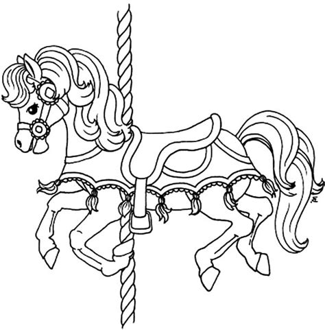 coloring pictures of carousel horses carousel pony horse coloring pages best place to color