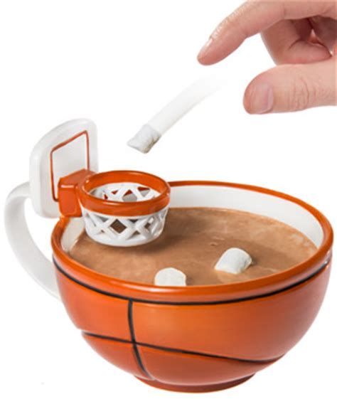 Cool Home Office Decor The Basketball Mug Handcrafted Ceramic Mug With A Hoop